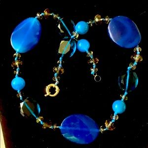 Necklace Large faceted & polished Austrian Crystal